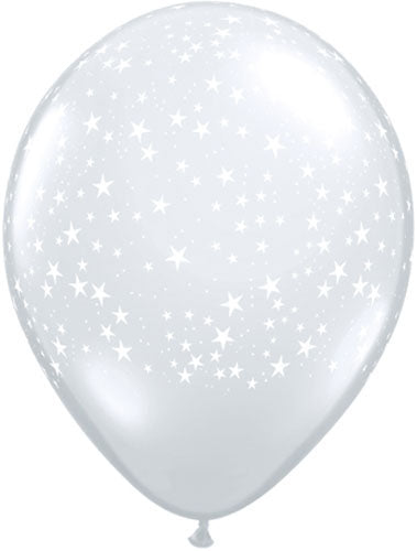 Diamond Clear Stars Latex Balloon (Sold loose)