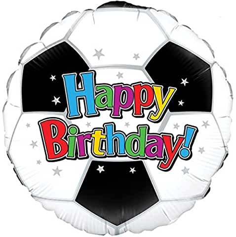 Football Happy Birthday Helium Filled Foil Balloon
