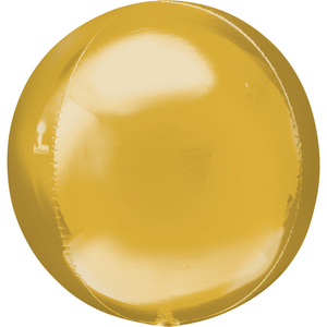 Gold Orbz Helium Filled Foil Balloon