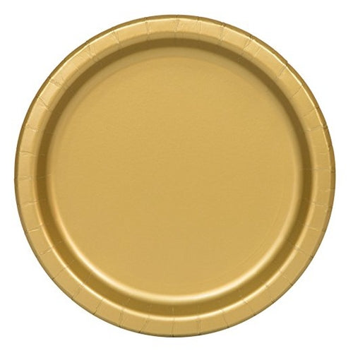 Gold Paper Party Plates x16