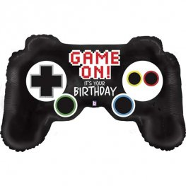 Game Controller Birthday Supershape Helium Filled Foil Balloon