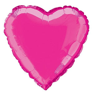 Hot Pink Heart Shape Helium Filled Foil Balloon