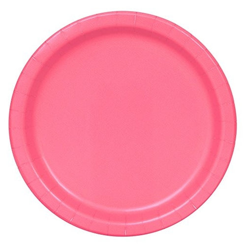 Hot Pink Paper Party Plates x16