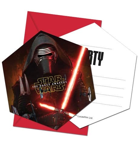Star Wars Invitations And Envelopes (6 Pack)