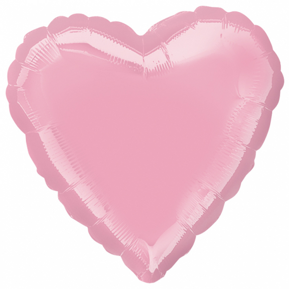 Iridescent Pearl Pink Heart Shape Helium Filled Foil Balloon
