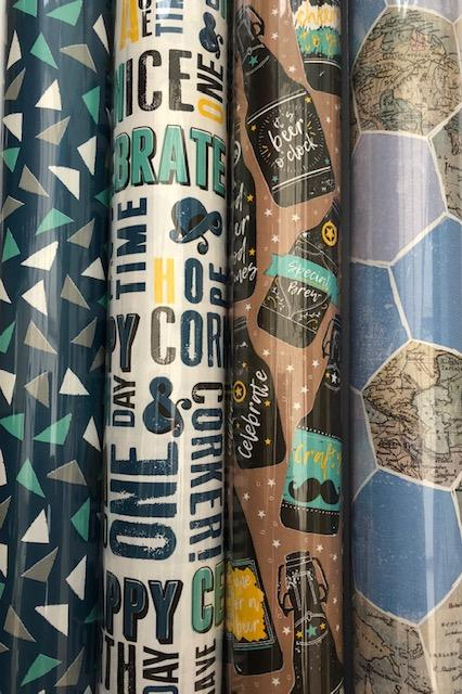 Wrapping Paper Roll 3m In A Choice Of 4 Designs