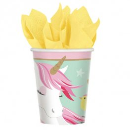 Magical Unicorn Paper Party Cups x8