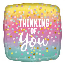 Thinking Of You Dots Helium Filled Foil Balloon