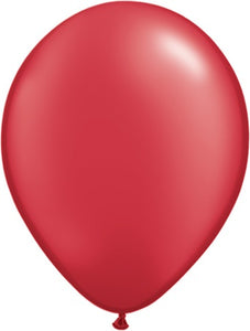 Pearl Ruby Red Latex Balloon (Sold loose)
