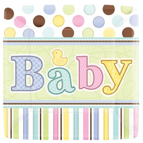 Tiny Bundle Baby Paper Party Plates x18