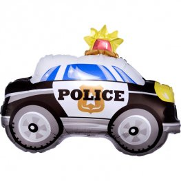 Police Car Junior Shape Helium Filled Foil Balloon