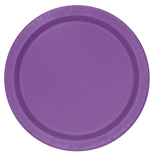 Pretty Purple Paper Party Plates x16