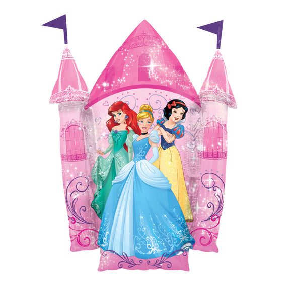 Disney Princess Double Sided Castle Supershape Helium Filled Foil Balloon