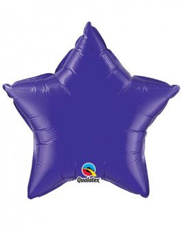 Quartz Purple Star Shape Helium Filled Foil Balloon