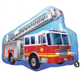 Fire Engine Supershape Helium Filled Foil Balloon