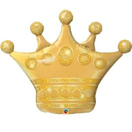 Gold Crown Supershape Helium Filled Foil Balloon