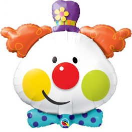 Clown Supershape Helium Filled Foil Balloon