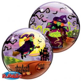 Halloween 2-Sided Helium Filled Single Bubble Balloon