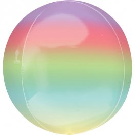 Rainbow Ombre Orbz Helium Filled Foil Balloon