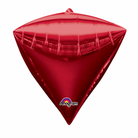 Red Diamondz Helium Filled Foil Balloon