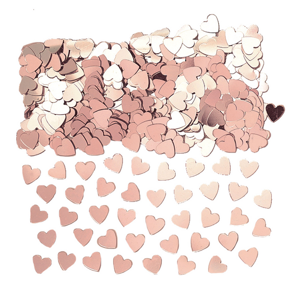 Rose Gold Heart Metallic Confetti 14g