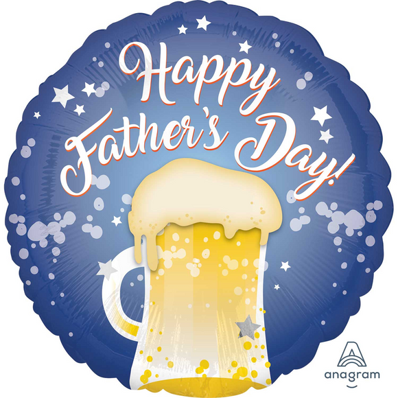 Happy Father's Day Beer Glass Helium Filled Foil Balloon