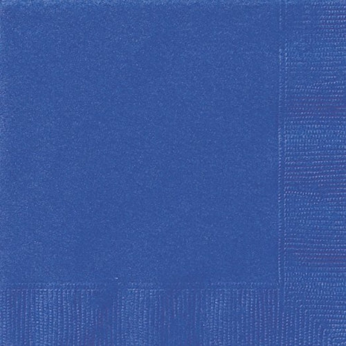 Royal Blue Party Napkins x20