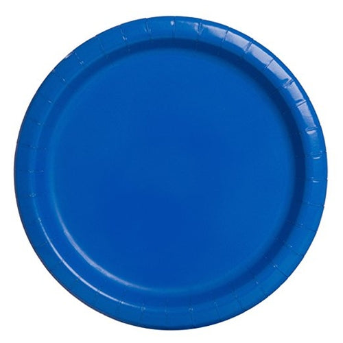 Royal Blue Paper Party Plates x16