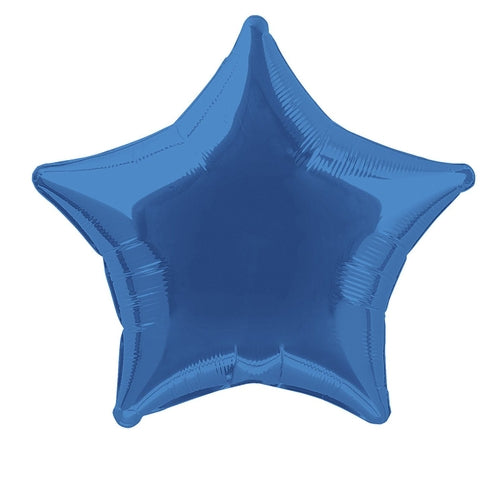 Royal Blue Star Shape Helium Filled Foil Balloon
