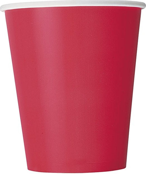 Ruby Red Paper Party Cups x14