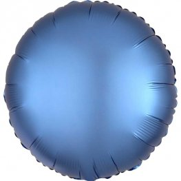 Satin Luxe Azure Circle Shape Helium Filled Foil Balloon