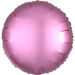 Satin Luxe Flamingo Circle Shape Helium Filled Foil Balloon