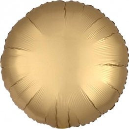 Satin Luxe Gold Sateen Circle Shape Helium Filled Foil Balloon