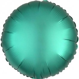 Satin Luxe Jade Circle Shape Helium Filled Foil Balloon