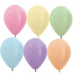 Satin Pearl Latex Balloons In Assorted Colours x10 (Sold loose)