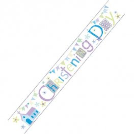 Christening Day Blue Banner