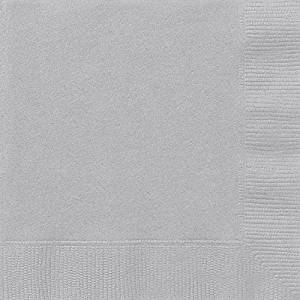 Silver Party Napkins x20