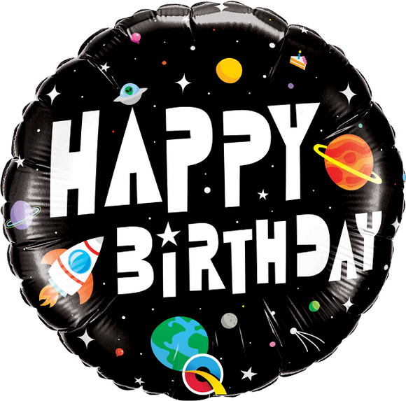 Astronaut 2-Sided Happy Birthday Helium Filled Foil Balloon
