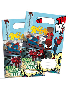 Spiderman Party Loot Bags x6