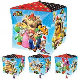 Super Mario Cubez Helium Filled Foil Balloon
