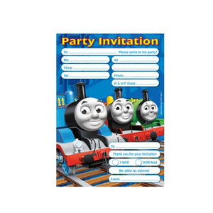 Thomas The Tank Engine Invitations And Envelopes (20 Pack)