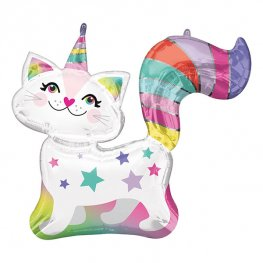 Caticorn Supershape Helium Filled Foil Balloon