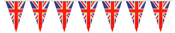 Union Jack PVC Pennant Flag Bunting 7m Long