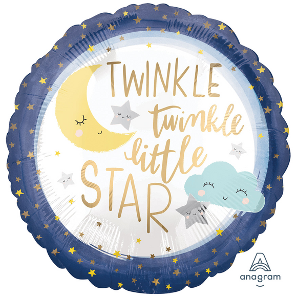Twinkle Twinkle Little Star Helium Filled Foil Balloon