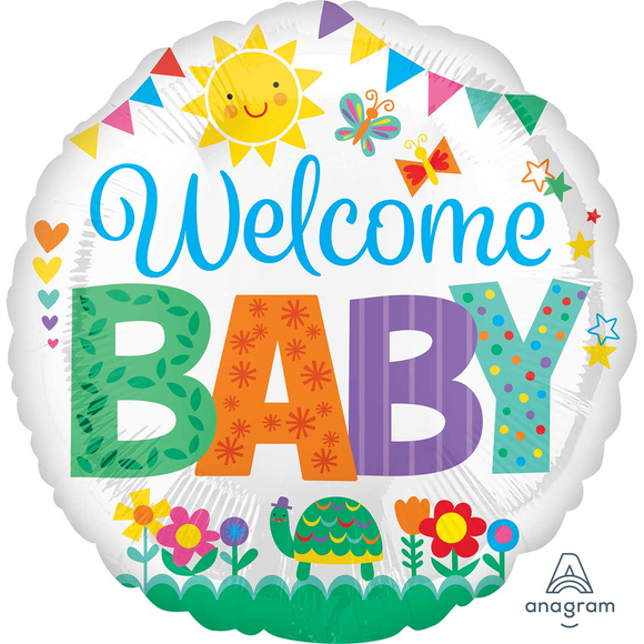 Welcome Baby Helium Filled Foil Balloon