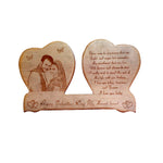wooden Double Heart