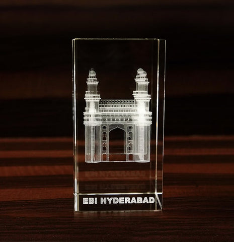 Charminar in 3D Crystal