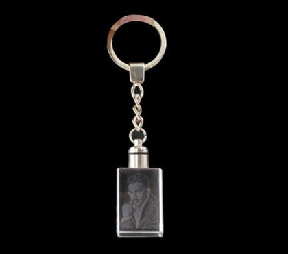Crystal Rectangle Key Chain