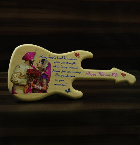 UV Colour Print Wooden Guitar 7×16