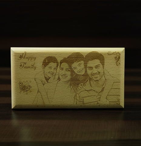 Personalised Engraving on Wooden Plaque 5×9